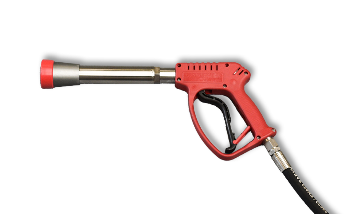 Petrol High Pressure Unit 21LPM@200bar, Short Cavitation Cleaning Gun CW200 with 1x 50m hose and supply pump