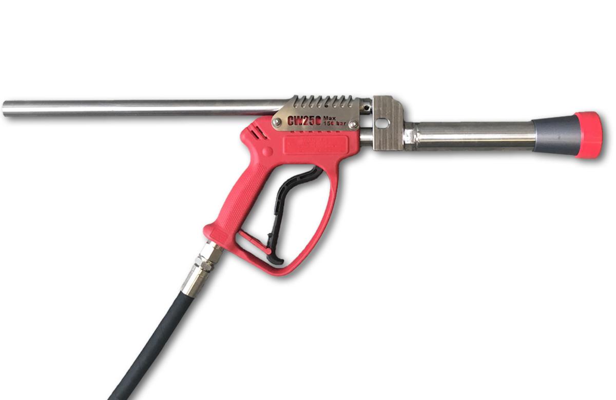 Zero-Thrust Short Cavitation Cleaning Gun (Recommended max. 40 LPM at 150 bar)